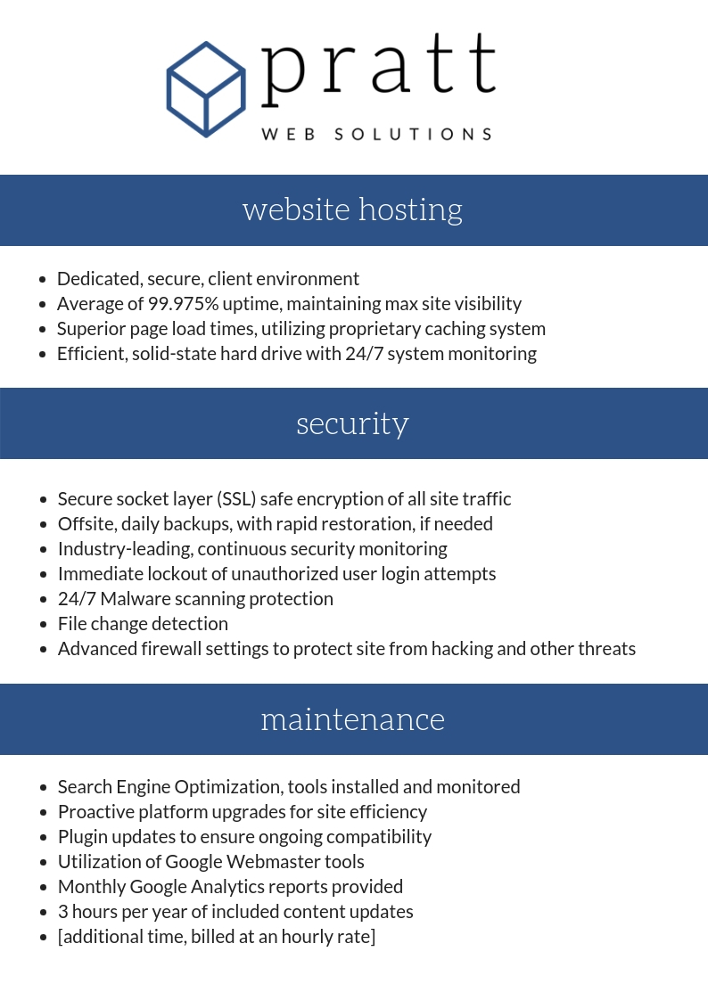 Pratt Web Solutions hostingsecuritymaintenance